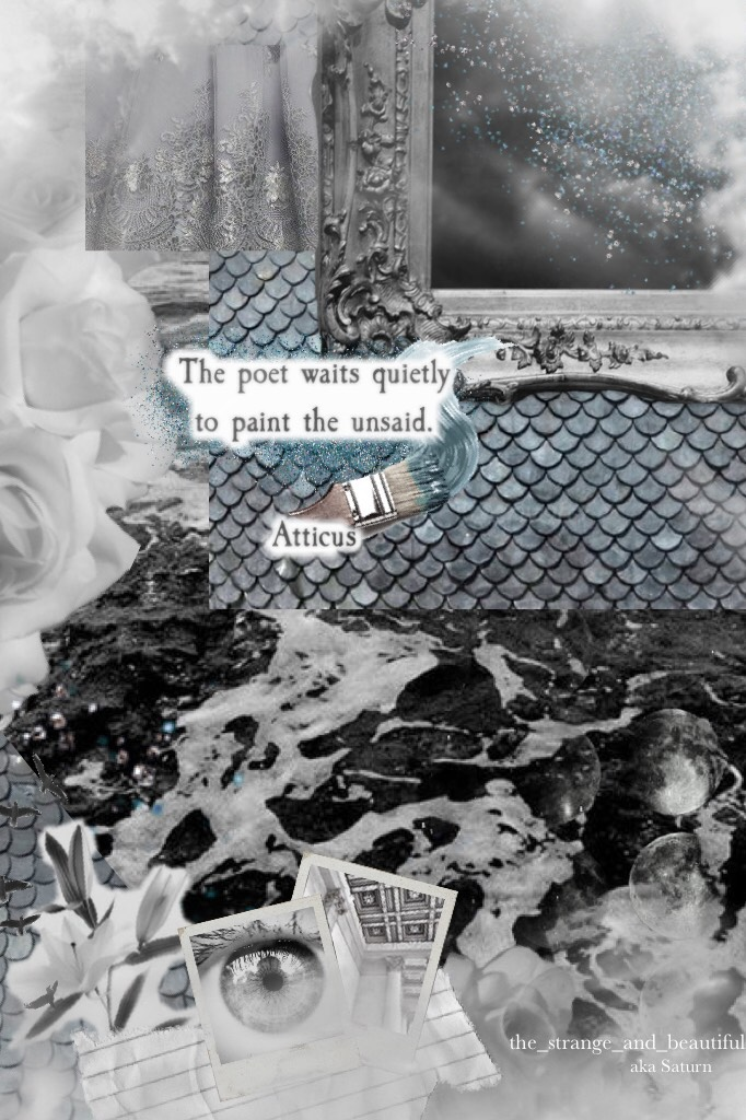"""""""A TRAGEDY"""" ^Ophelia by The Lumineers^  Not my favorite. But I have made about 20 other collages I didn't like either, and I felt this 1 of 20 should be posted for metaphorical, or symbolic reasons perhaps."""