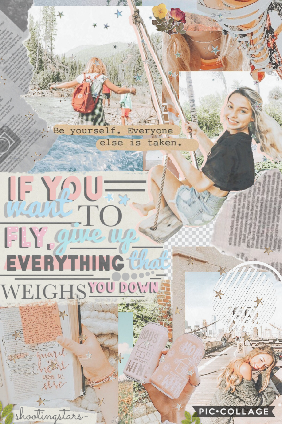first collage in a while 💗🌸 i'm trying to make a travel bucket list, so does anyone have any country suggestions? 🦋🌊☁️ i'm thinking about either italy or australia 🌻💫🌙 how is everyone doing? 🌺🍓🌿