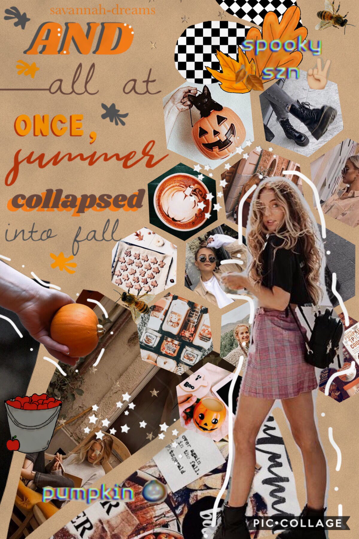 another fall collage! 🐿🍂 oml thank y'all sm for 1.5 K!! 🥳 ahhh we're 3/4 of the way there to 2K!! 🥰🥰 ✨ cannot believe it 🍃⚡️