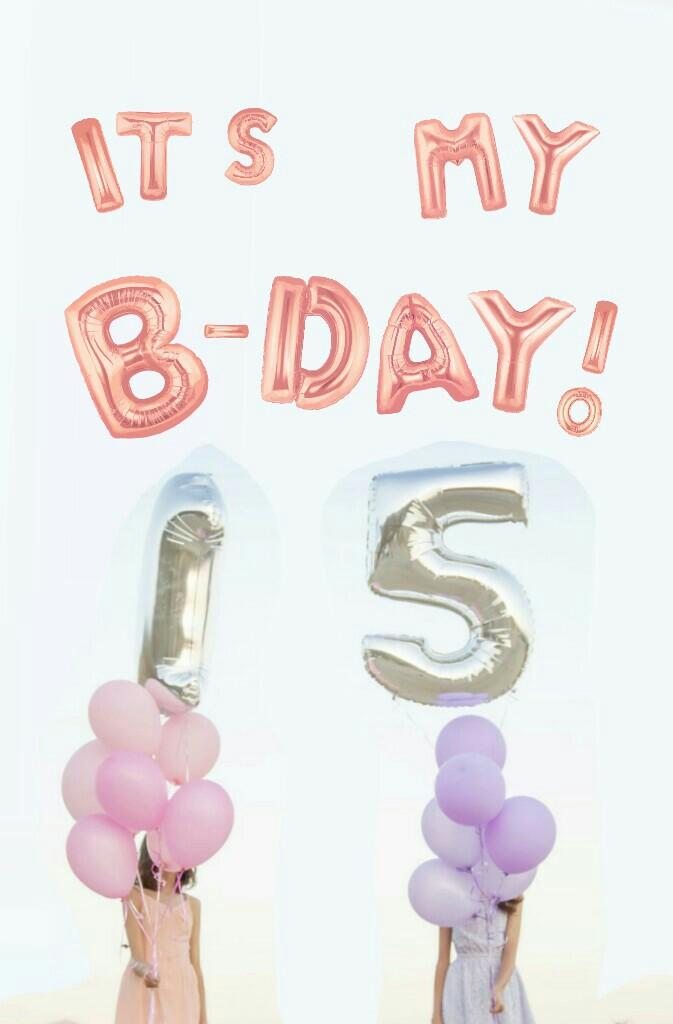 Hi :) Yeah as u can tell it's my bday & I'm turning #15 🎉  Qotd: when's ur bday? 🎆 🎇 🎉 🎊 🎂 🎈 🎁 🎀 📨 🍰 🍭 🍬 🍕 🌻