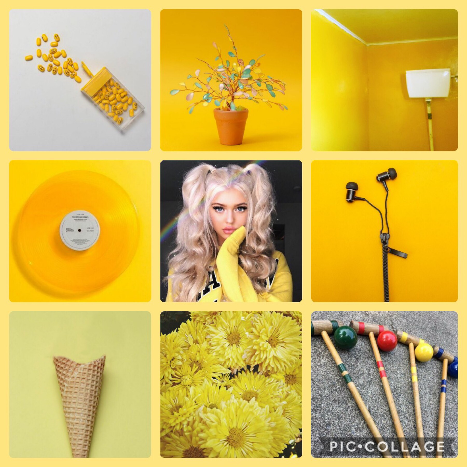 Yellow is cool —>💛 Change my mind.🖤 I wore a dress today. First time in a year.👗 Draftier than I remember.