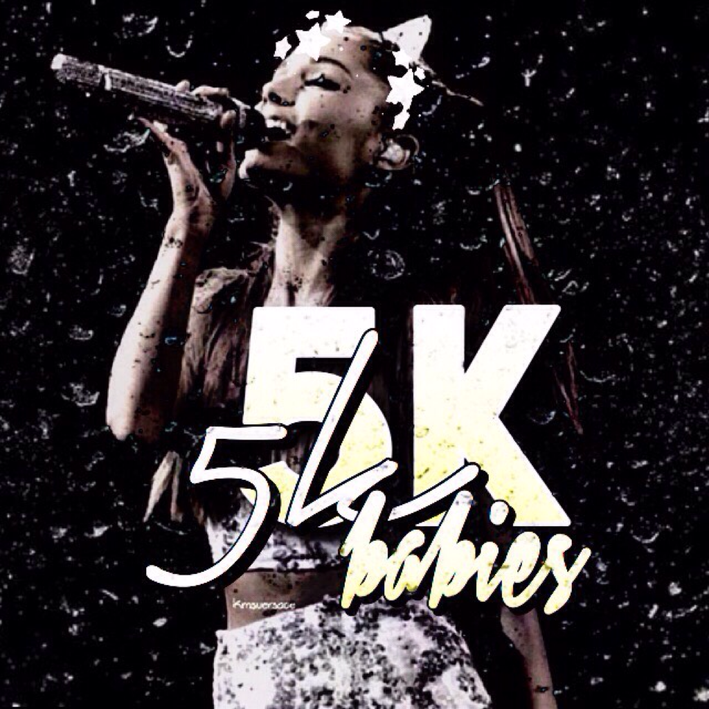 Tap for 5k!💞 OML GUYS! I actually have 5k! That was my goal since I came here!i cannot say how thankful I am for this! Yall so beautiful,active and inactive followers.just thank u for clicking the follow button! Ily all❤️💞next goal 6k💟