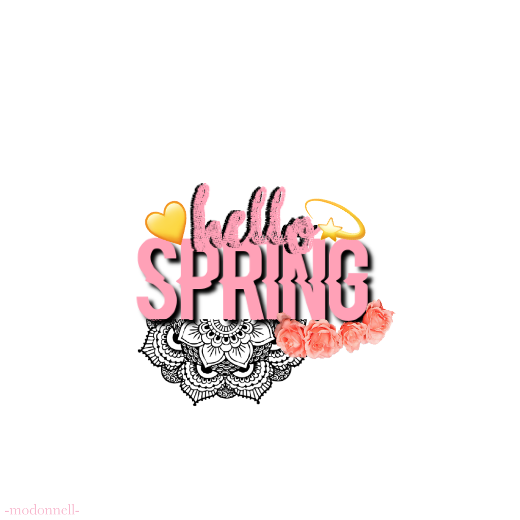 🌺 Heyyy 🌺 Little late.. but it's finally spring-time! 💛  Love you guys! 💛