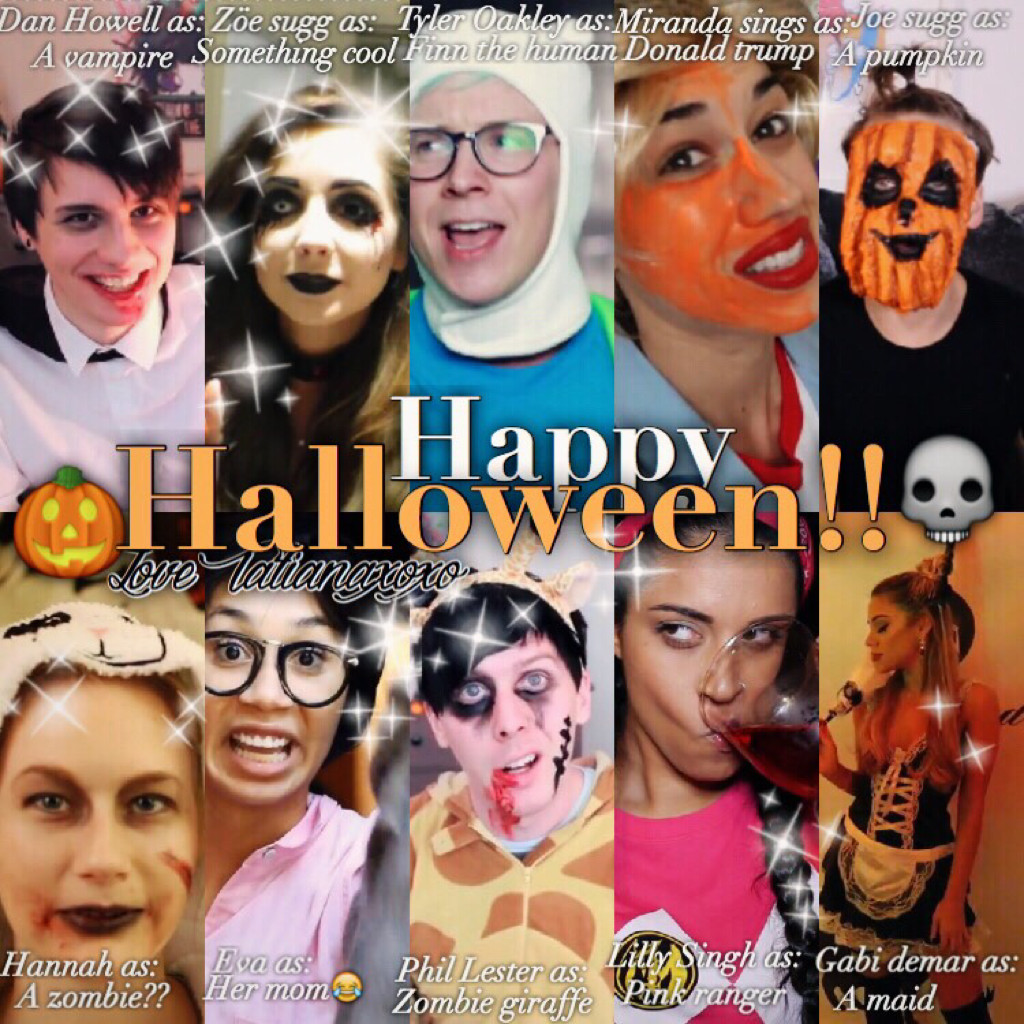 HAPPY HALLOWEEN🎃✨I hope you guys have an amazing night and stay safe!!🕸I hope you enjoy this I sort of viewed it as like the YouTubers in a movie and their parts idk😂🎀what are you being for Halloween?!tell me below!!and remember eat lots of candy!!🌚🌙
