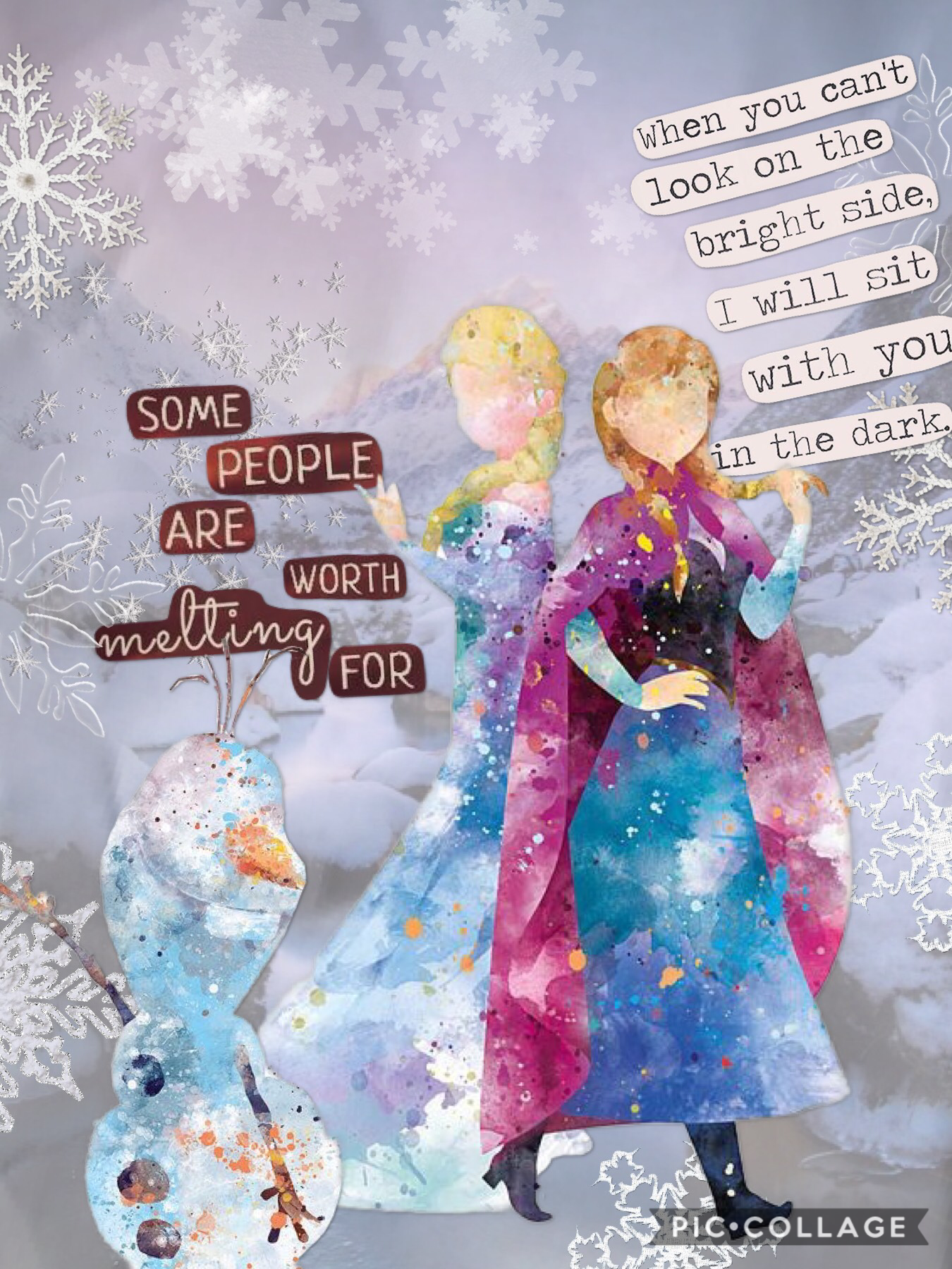 Find the people who will stick by you through thick and thin ⛄️ xoxo Pie