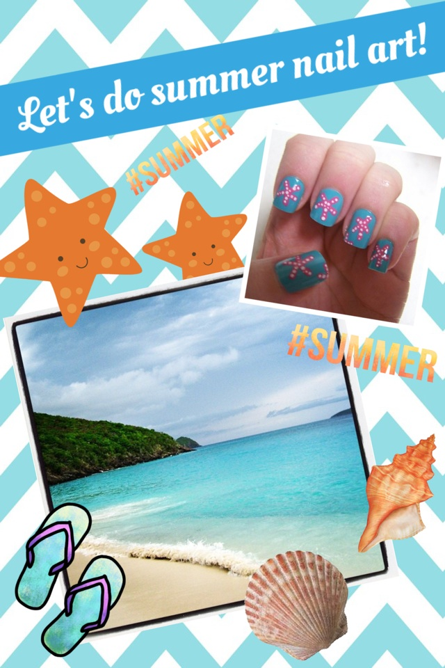Let's do summer nail art!