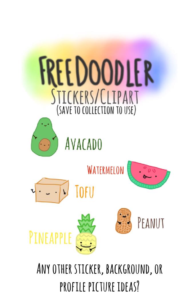Vegan-themed Stickers/Clip Art