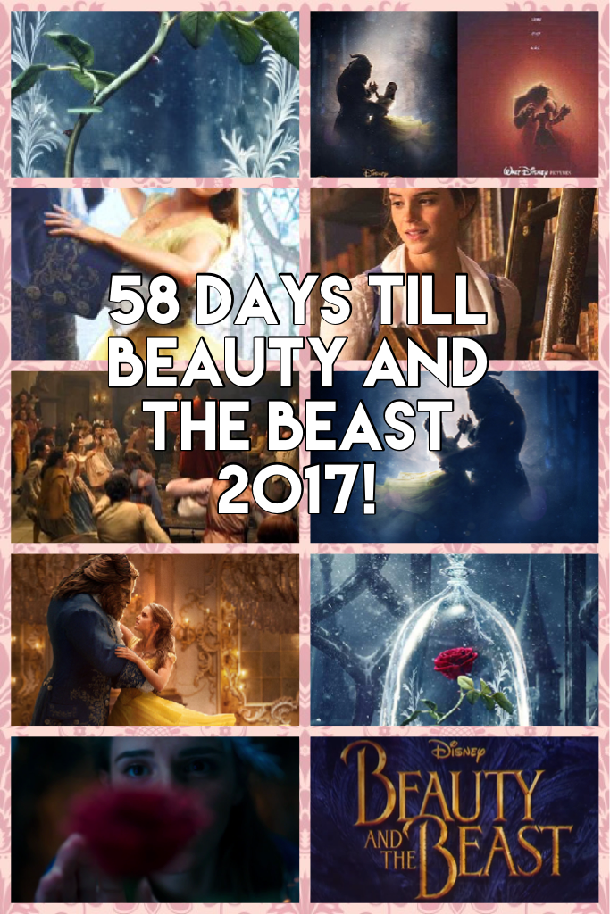 58 days till beauty and the beast 2017!
