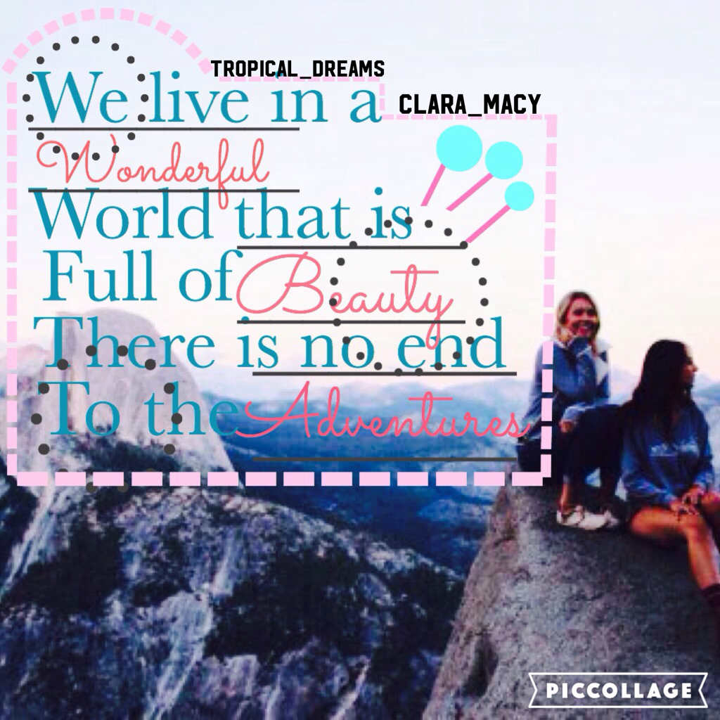 Collab with Tropical_Dreams she's amazing go follow her guys😘