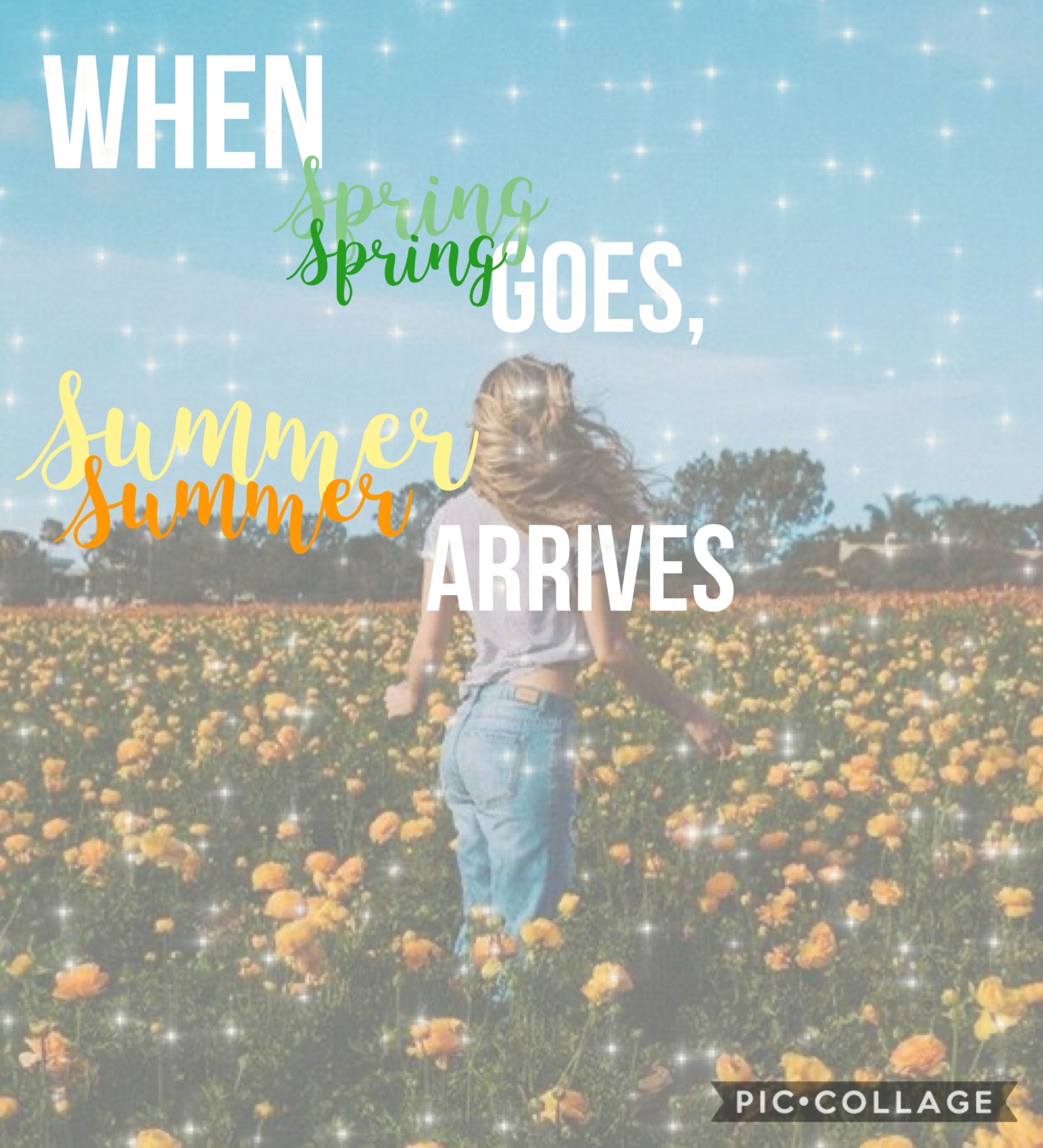 Spring and summer💐❤️