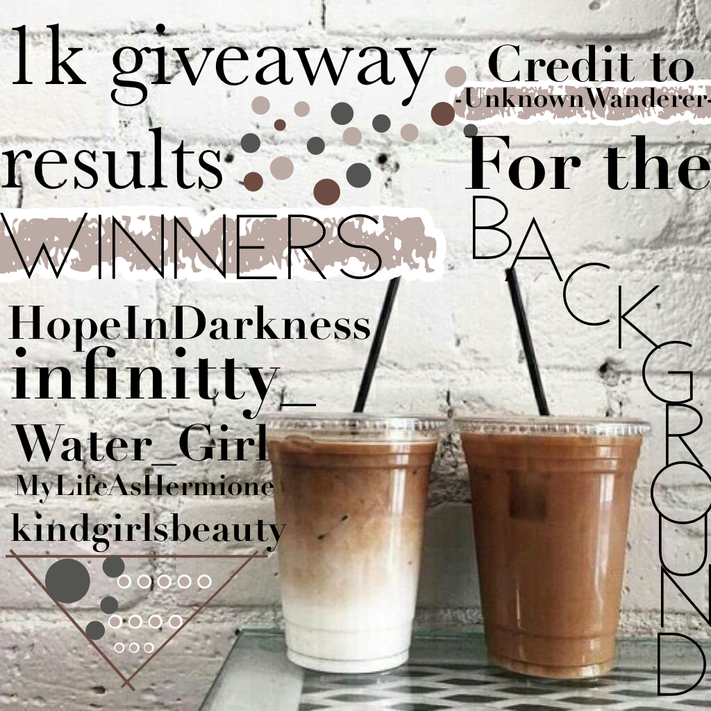 Congratulations to the winners❤️ and thank you so much for everything guys you all are amazing💕😘