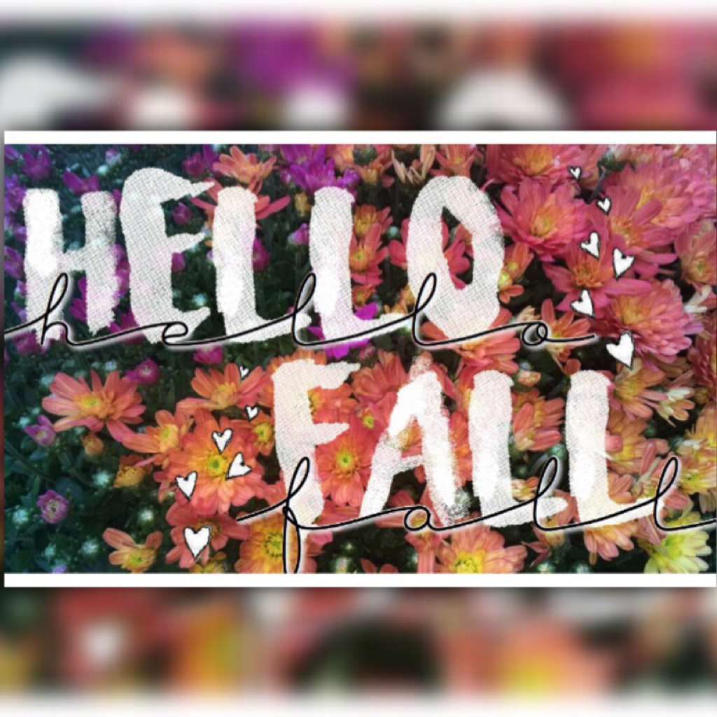 AUTUMN IS HERE😍🍃 FINALLY. I've been waiting all year😭😂 simple, but I like how it turned out! My photo☺️  Ugh... I have school pictures tomorrow🙄😴🙃 'nuff said.  {9.22.16 - fc; 561}