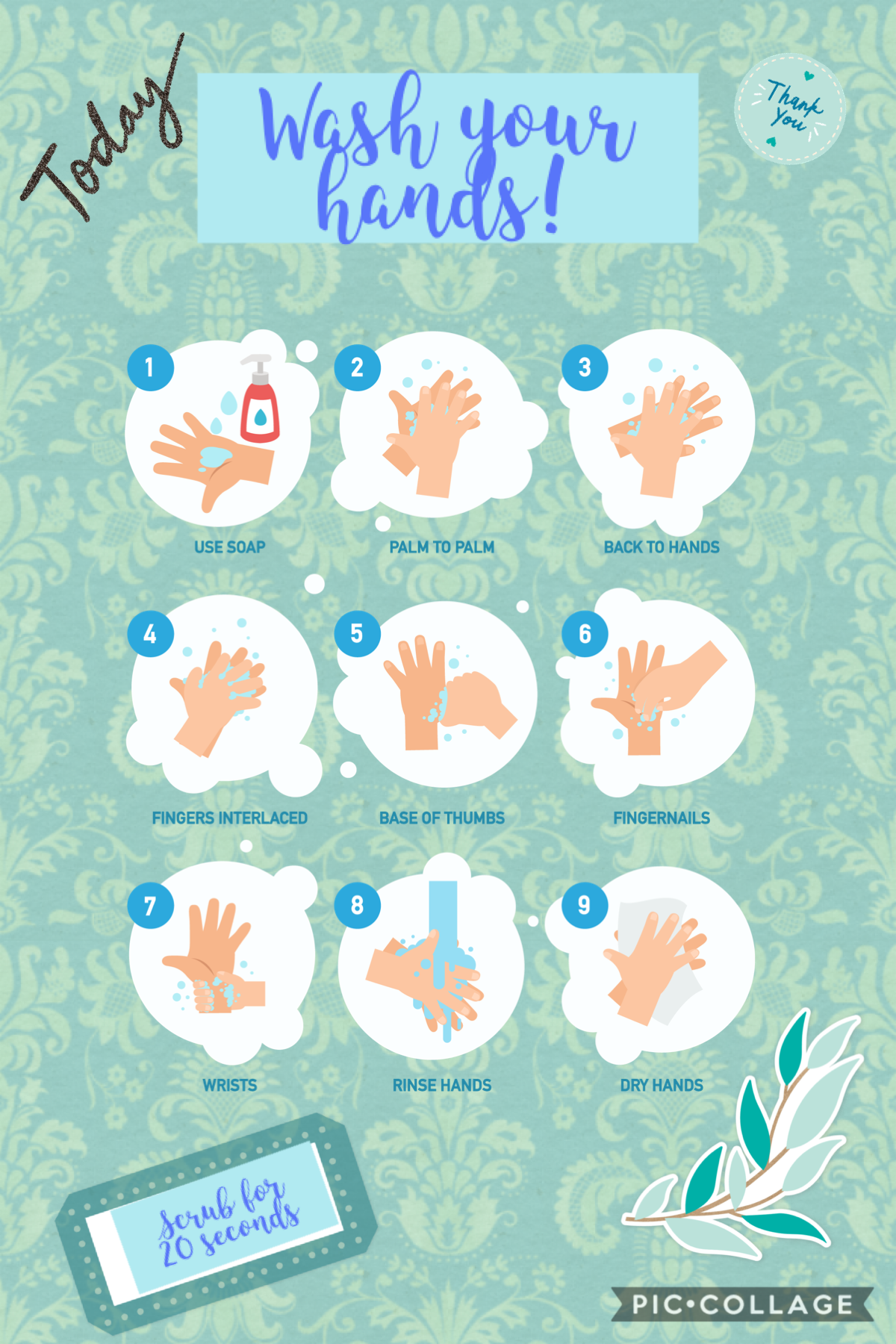 A reminder to wash your hands