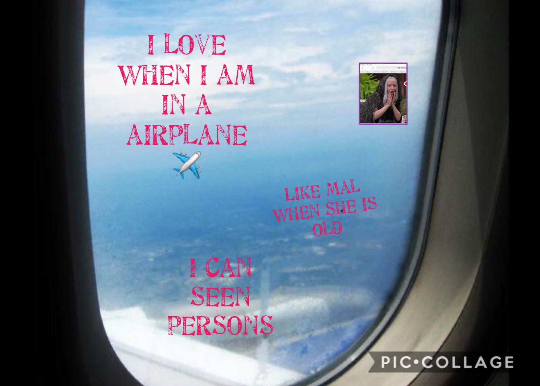 I love airplane, I love descendientes 2 and 3