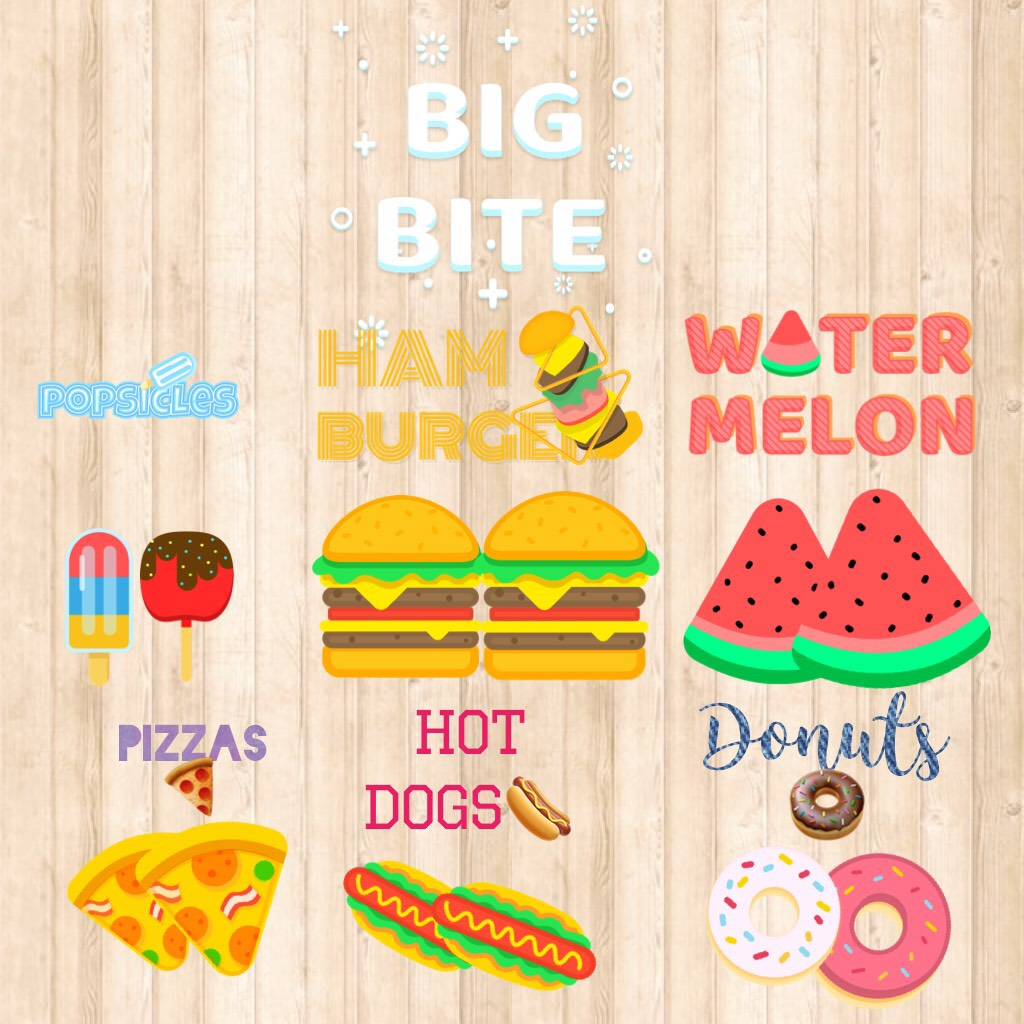 Tap!!🎇  Which is the most you like?  🍨🍔🍉🍕🌭 or 🍩? Chat now!!!🍭🍬