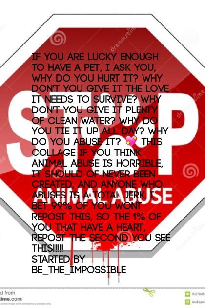Animal Abuse is horrifying