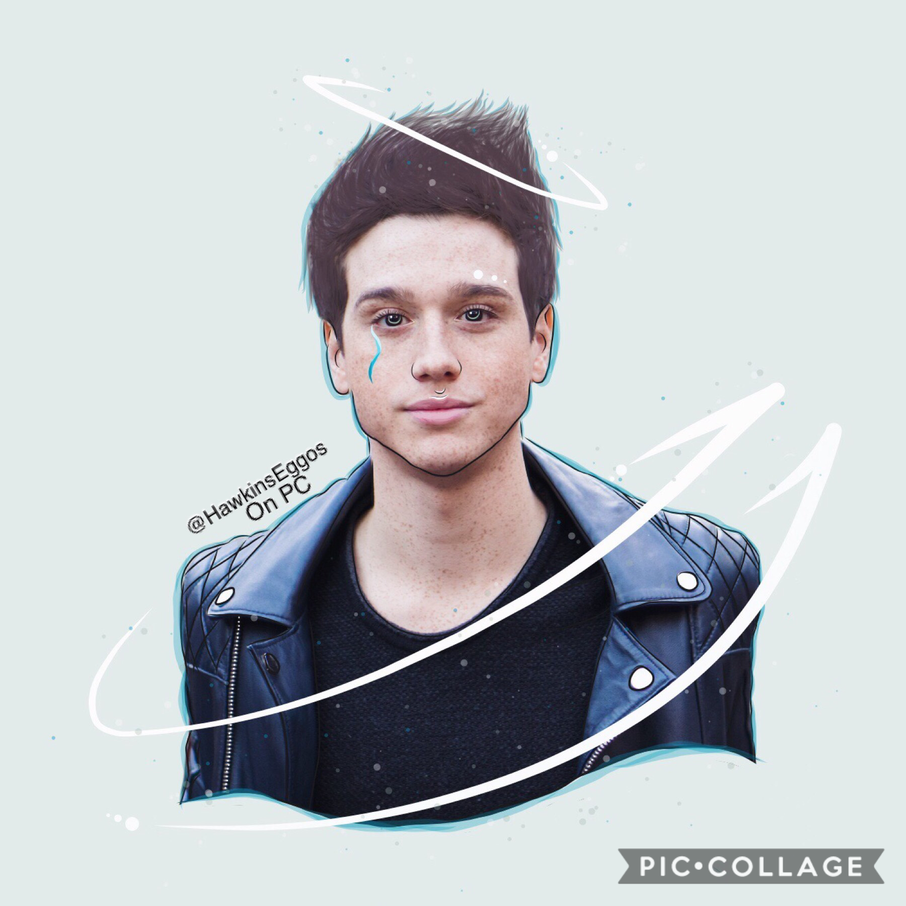 💙tap💙 If you don't know who this is, this is the wonderful Chester Rushing, who plays Tommy H. On stranger things! I've been making lots of outlines for my stranger things ig account, so (hopefully) I will post them in the next few days! The hair looks re