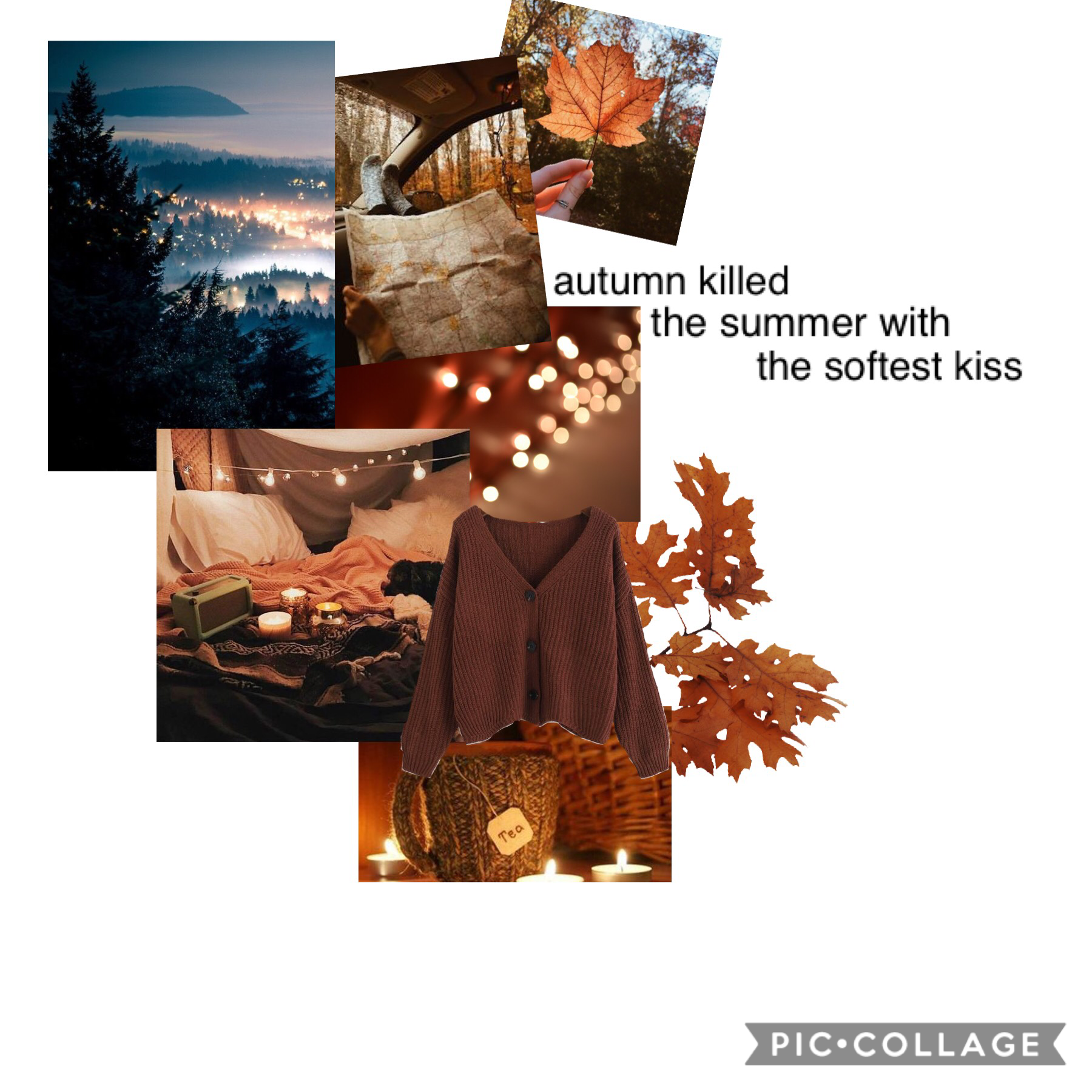 11/11/18 ... Here's a little collage for fall! I have this short story due soon and I have no idea what to do...help?!?!