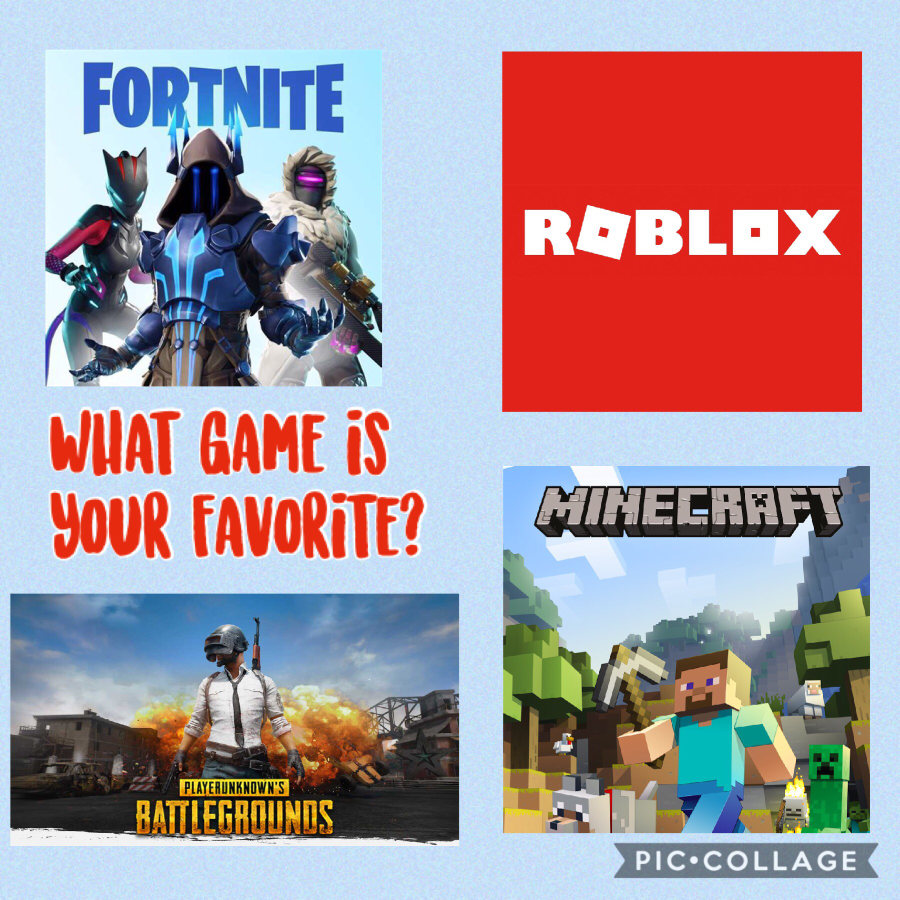 📱Tap📱 Comment down below what your favorite game is!!