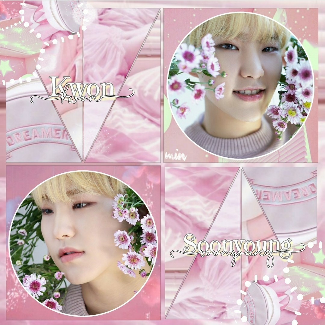 """Hello my name is Soonyoung, call me soon"" (🌸Tap🌸) I actually rlly like this fsr 😂😂 Btw, if u didn't notice, I have a SVT theme going on, so the next edits will be of the remaining SVT members  I hope u have a great day filled with happiness 💞"