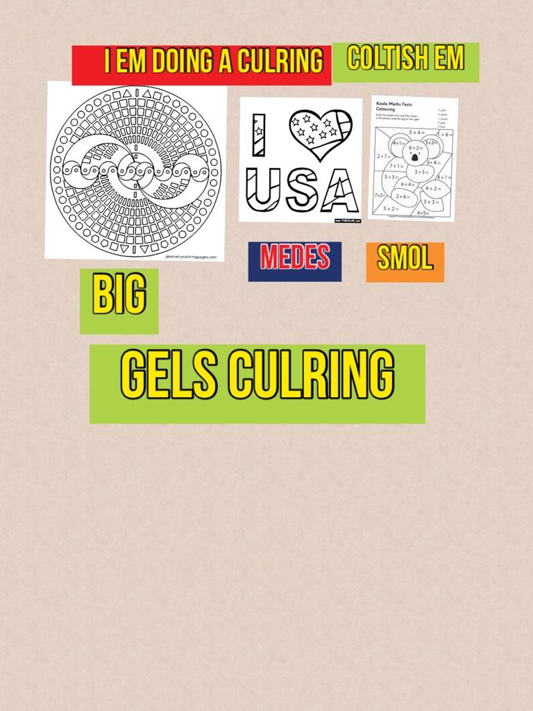 Gels culring
