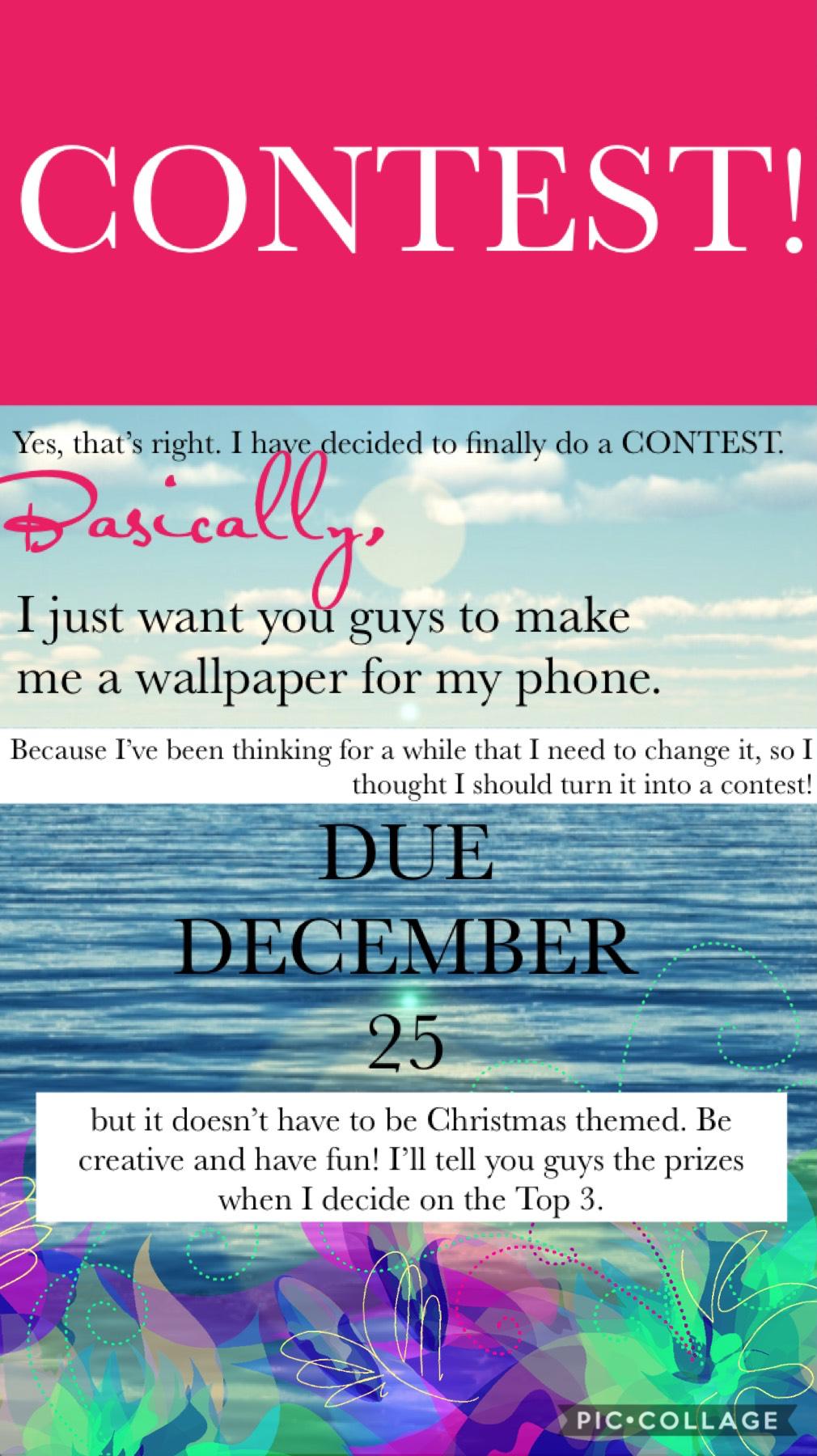 CONTEST! Please enter! ❤️☀️