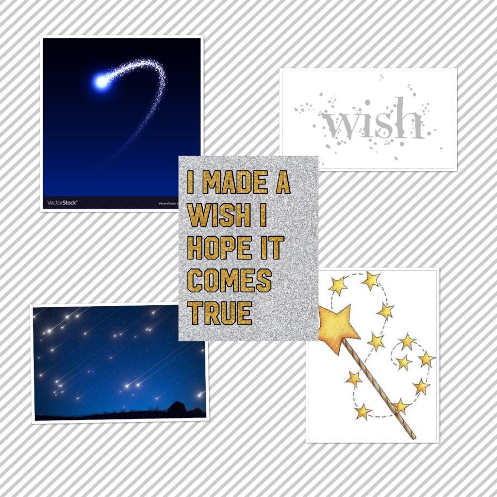 I made a wish I hope it comes true