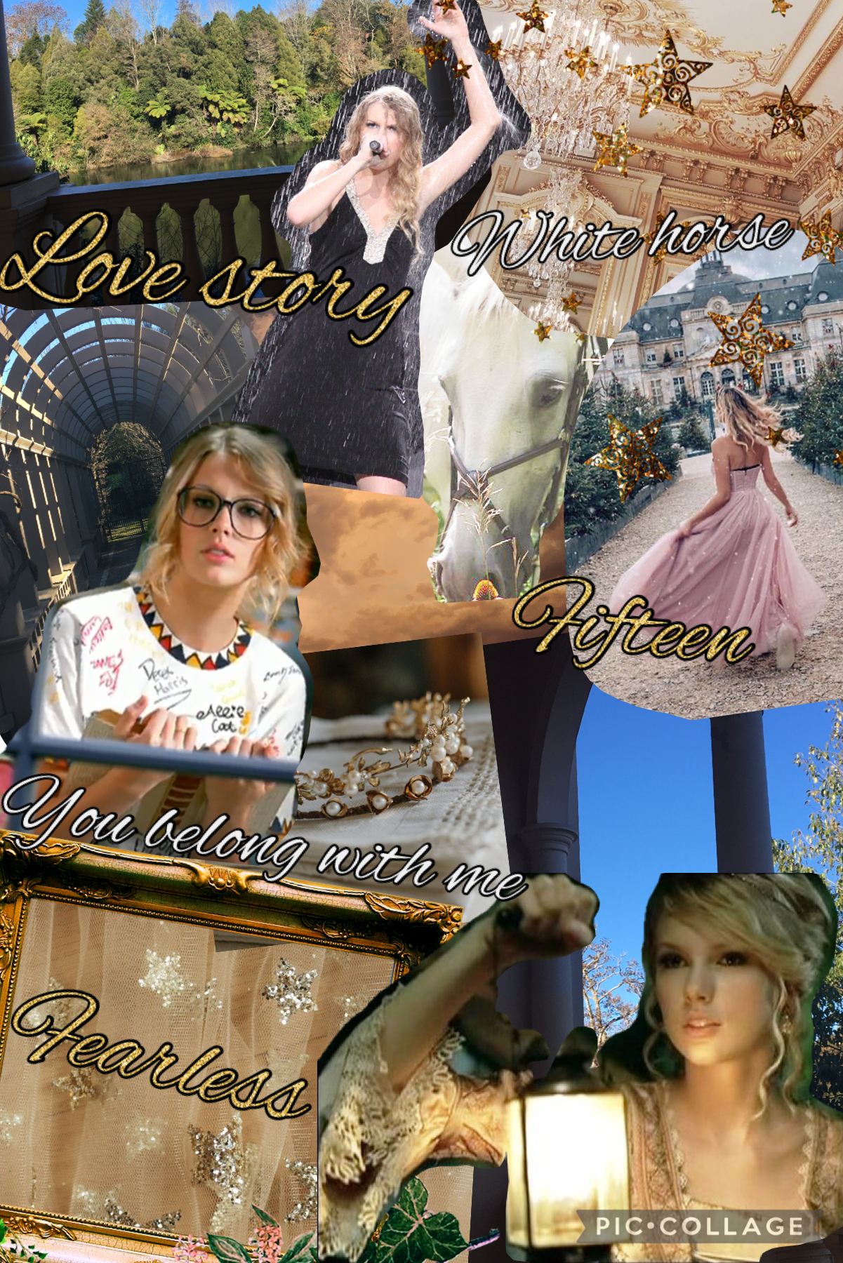 Fearless Taylor Swift collage 4.7.21