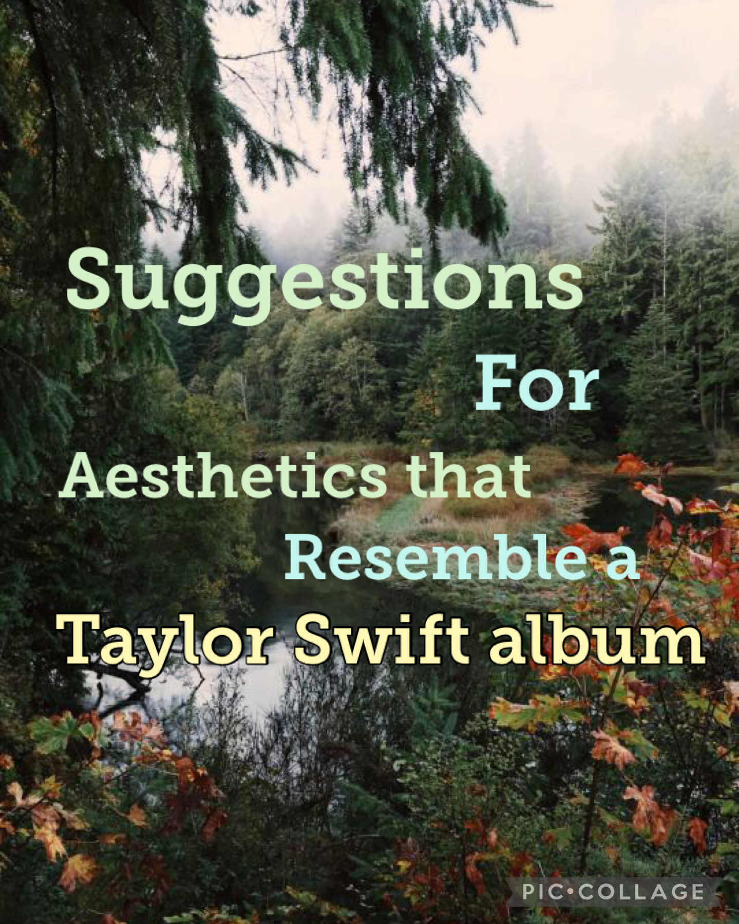 Suggestions for aesthetics that resemble a Taylor Swift album