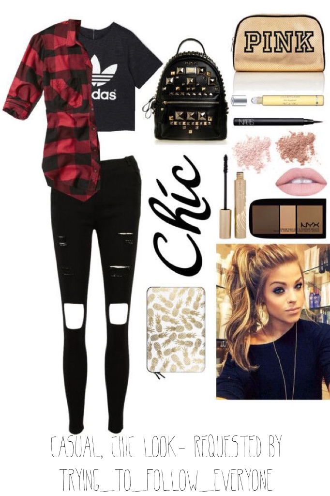 casual, chic look- requested by trying_to_follow_everyone << hope u like it 💓💓 (like my other outfit requests)