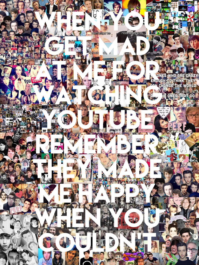 YouTube,YouTuber collage