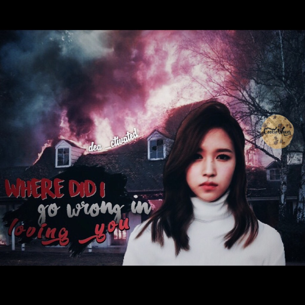 • Dark Mina (tap) • This one was a little dark. I don't know why I made it like this. But to og photo seemed to fit this type scenario lol