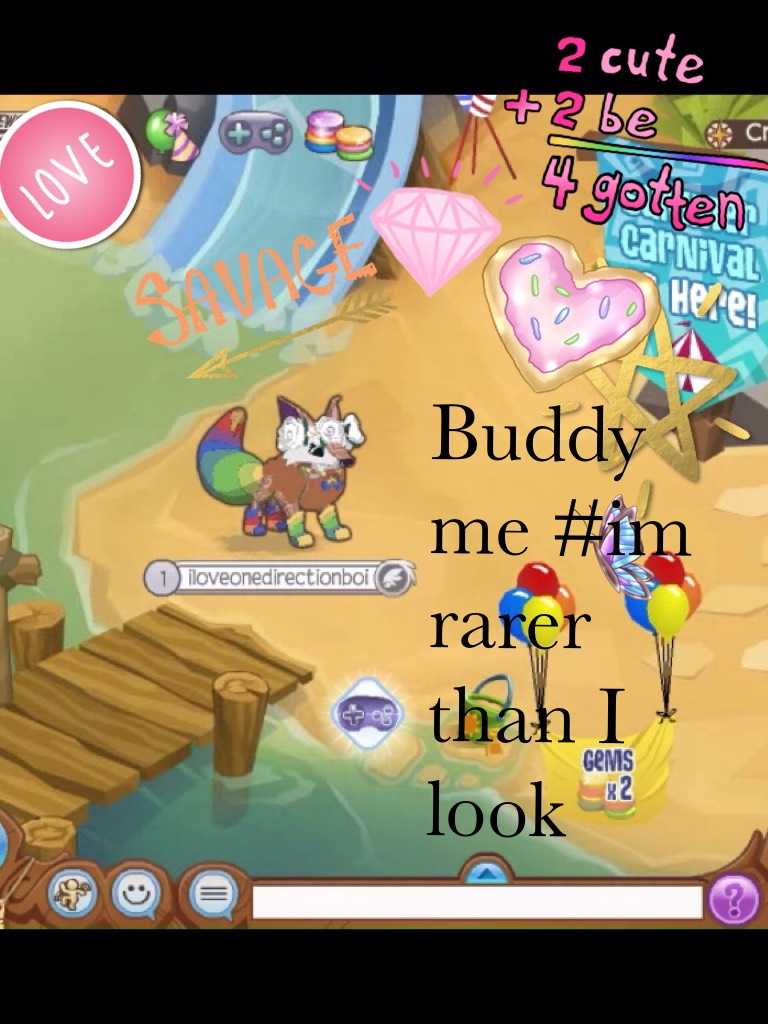 Buddy me #im rarer than I look