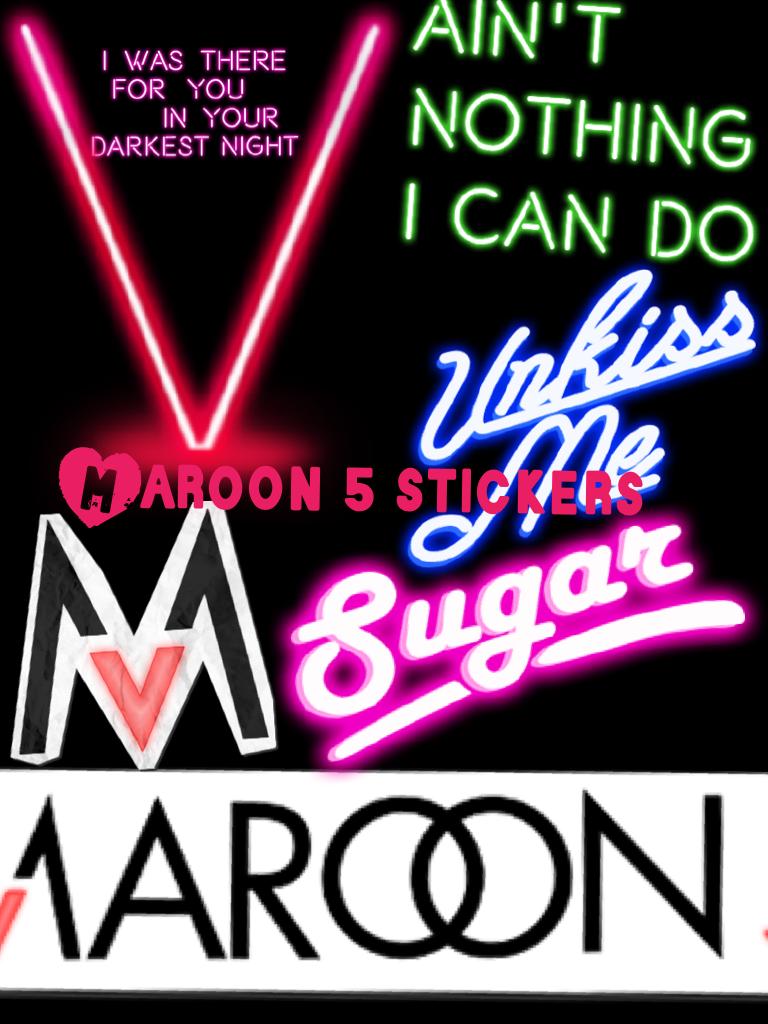 Maroon 5 stickers