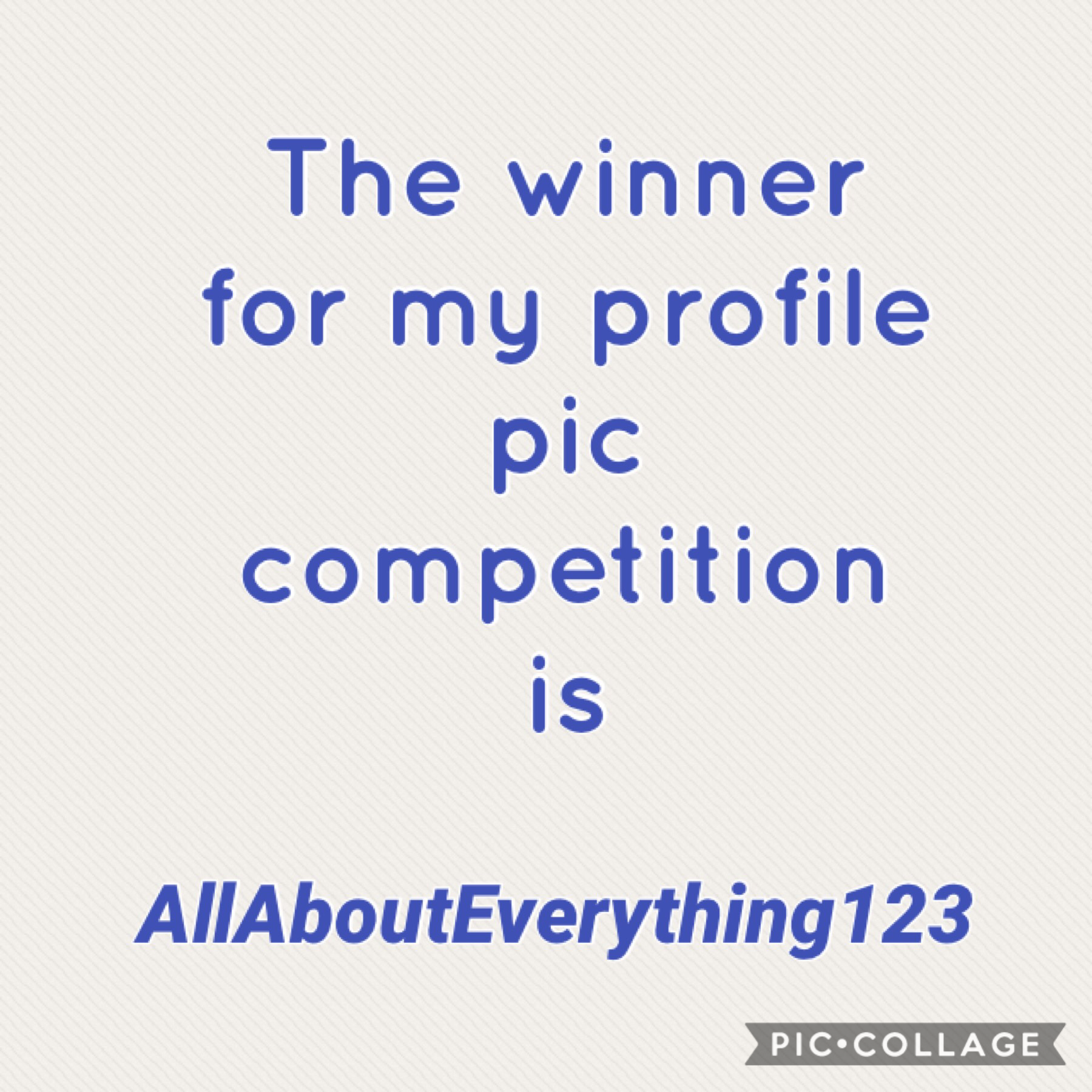 You can see the winning profile pic... because it's mine. Bet you wish you had it