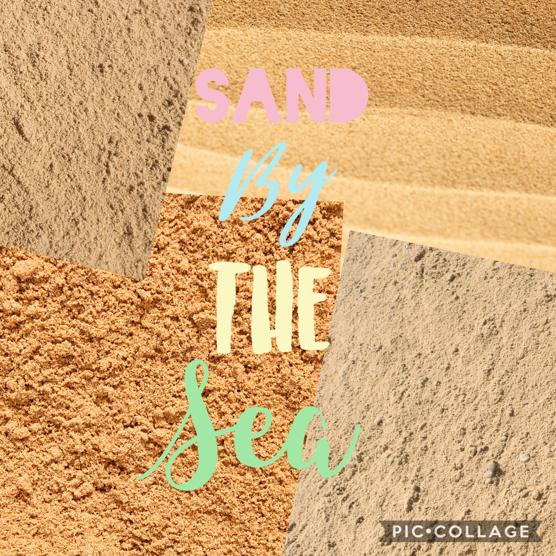 Sand by the sea! (Sorry I haven't been active)