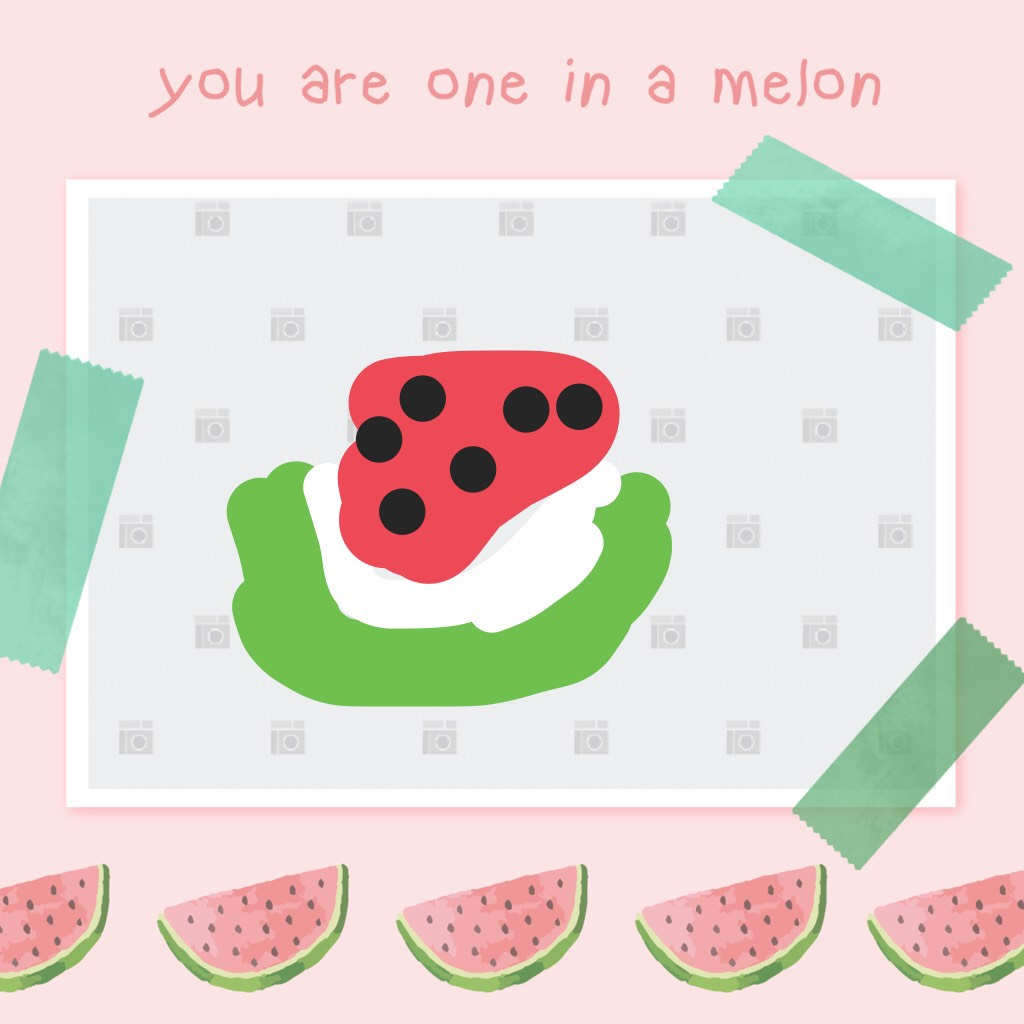 This is my pic of my melon please look at this if you like it . Charlotte 9 years old