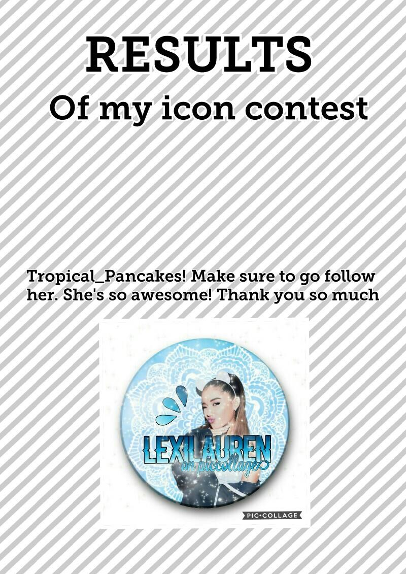 Icon contest results