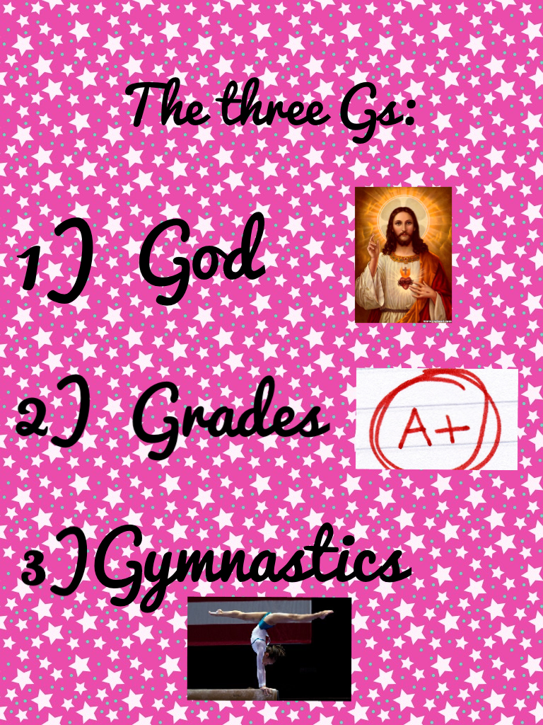 This is the three Gs!