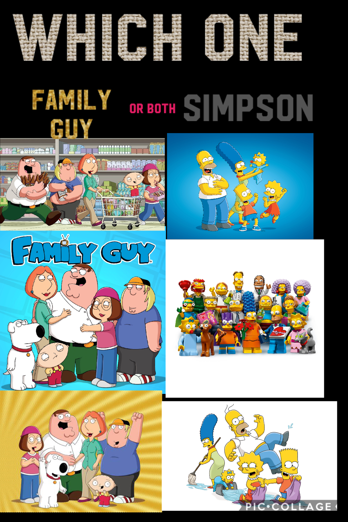 I love family guy and I like simpons