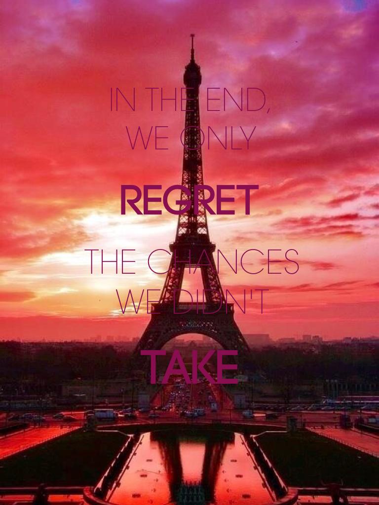 Take chances💕