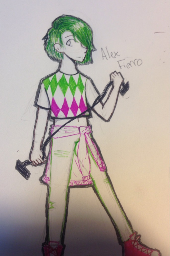 CLICK Alex drawing my bab she's greattt badly drawn and spelled her last nam wrong (probably?) here to save the day tho I'll post more yay