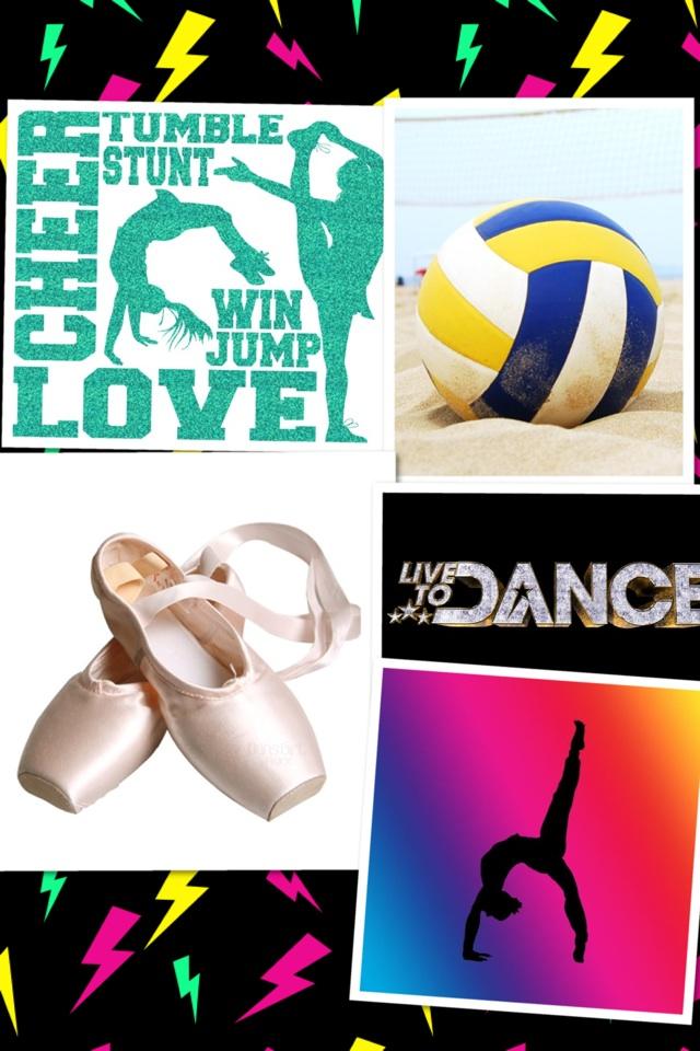 Cheer,Volleyball,Dance,Gymnast!