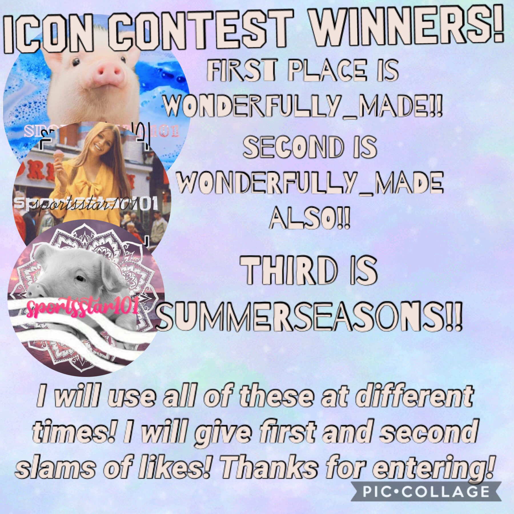 Thank you so much to all of the people who entered!