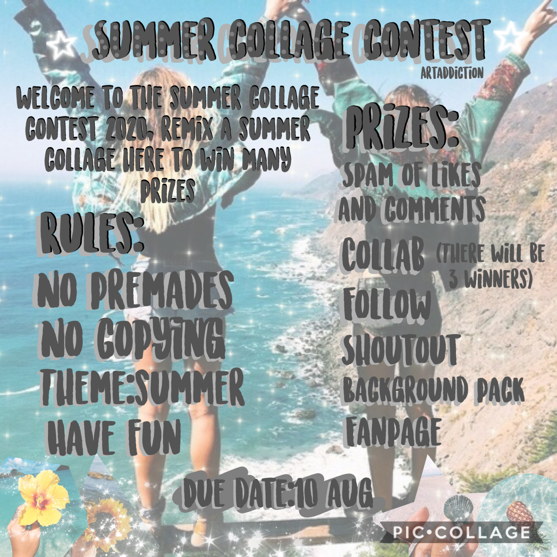 Welcome to the summer collage contest 💖