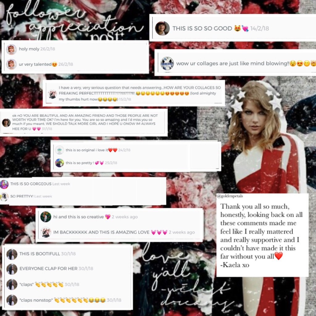 t a p. . .❤️ I can't even thank you all enough or explain how happy these comments made me feel. These are just some of the amazing people I have met❤️ Sorry for being inactive but..IM GETTING MY PHONE BACK TOMORROW!! So I'll post more❤️ A special thanks