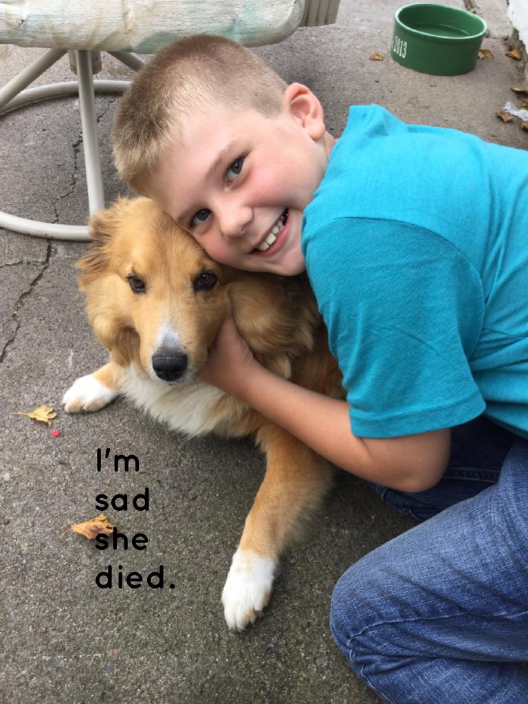 I'm sad she died.