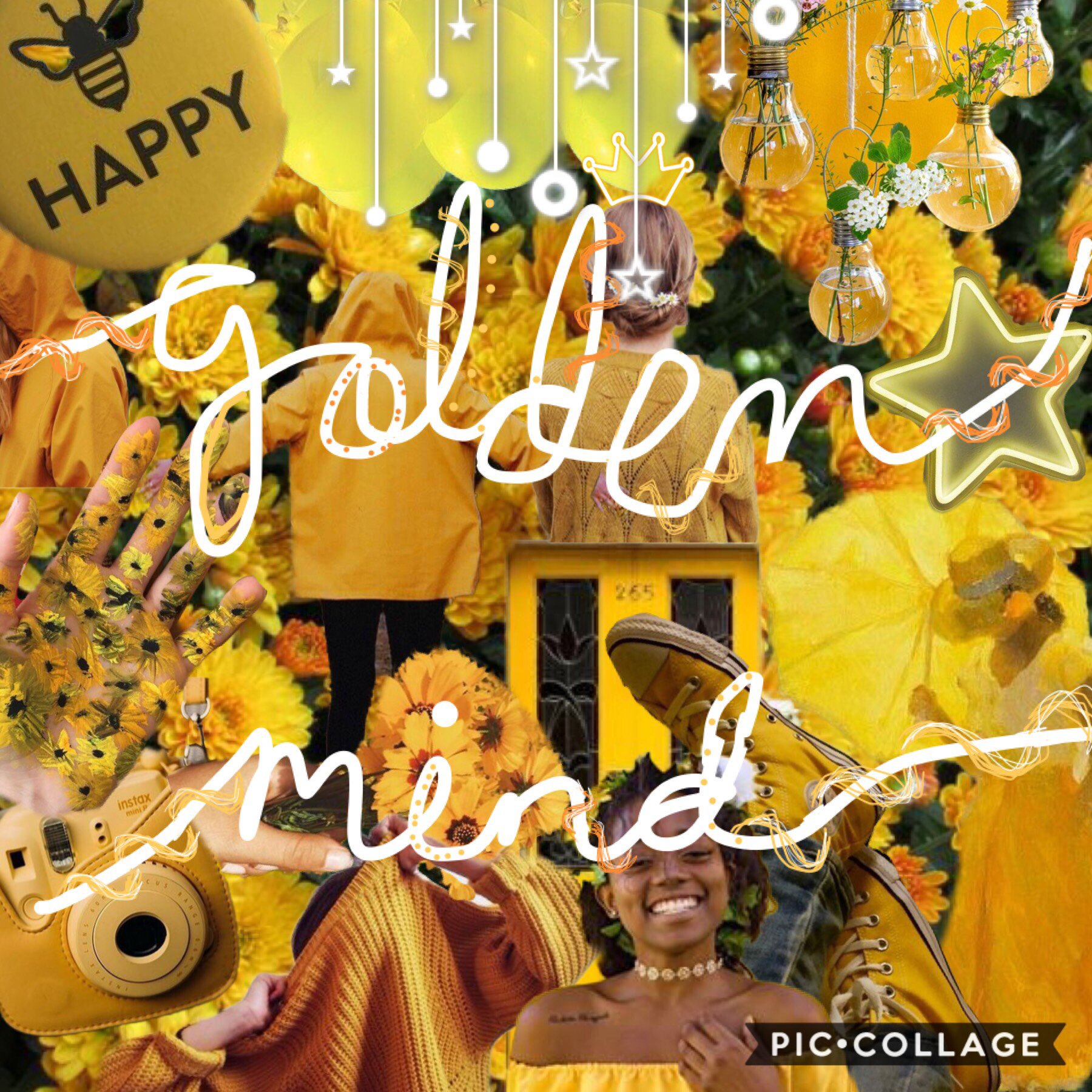 ✨tap✨ Here's a quick edit... I love the color yellow so I created a yellow collage😊 QOTD:🦓or🦒  AOTD:🦓 8/18/2018