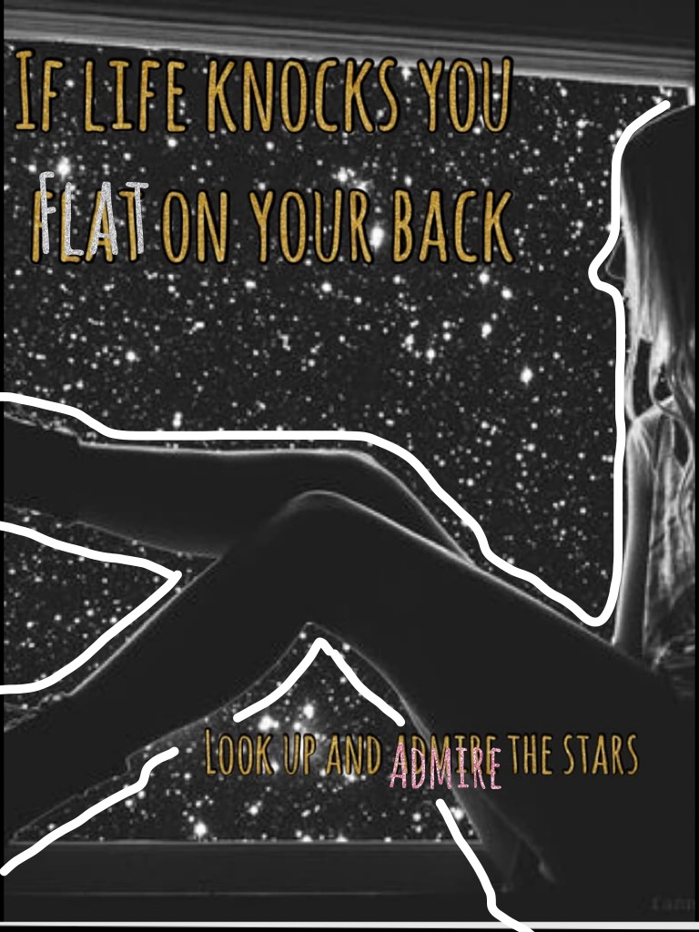 If life knocks you flat on your back Look up an admire the stars