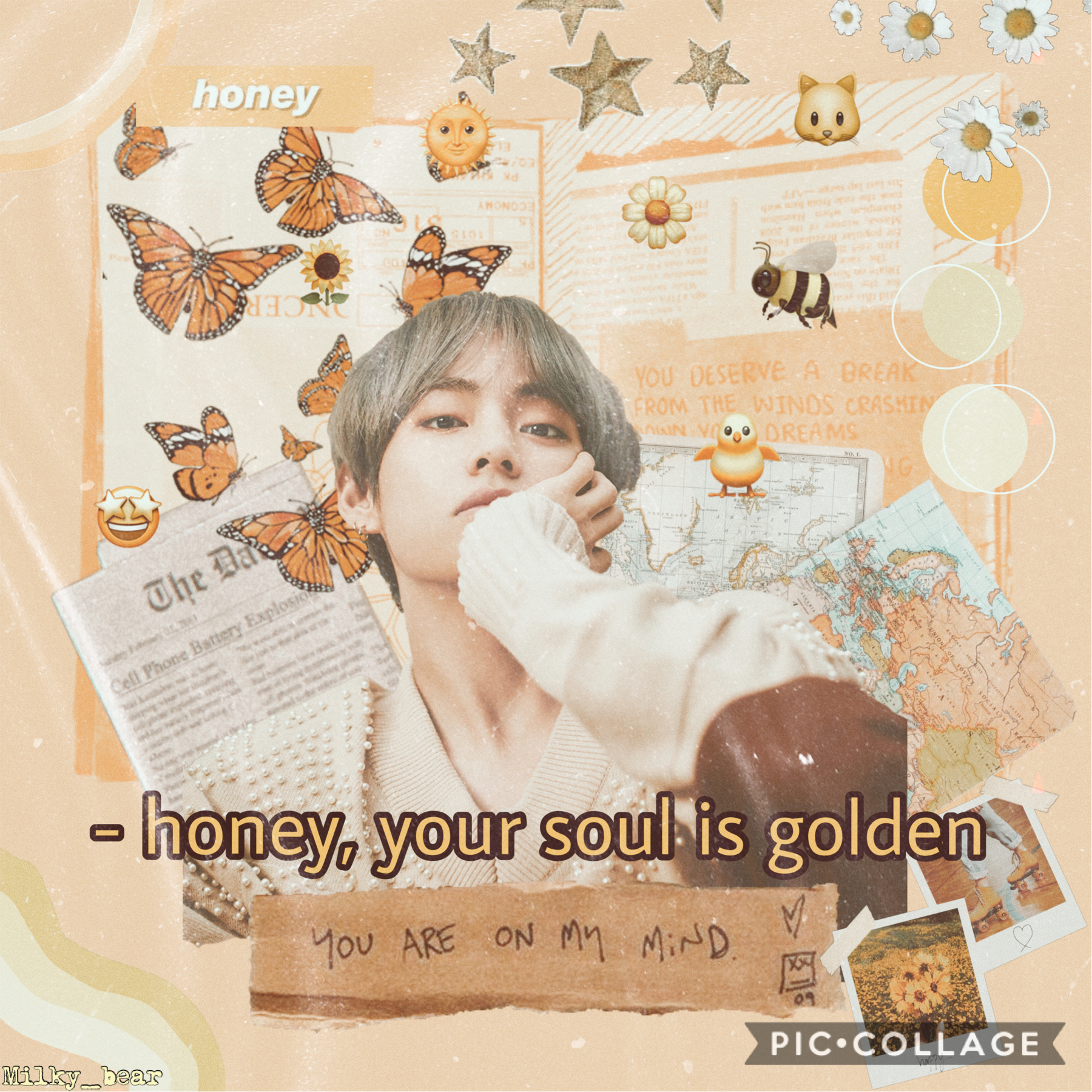 ⭐️TAP⭐️ Hey 🐻BEARS🐻 how are you all I think I found my new style I have been making lots of collages in PicsArt lately QOTD: favourite TikTok song